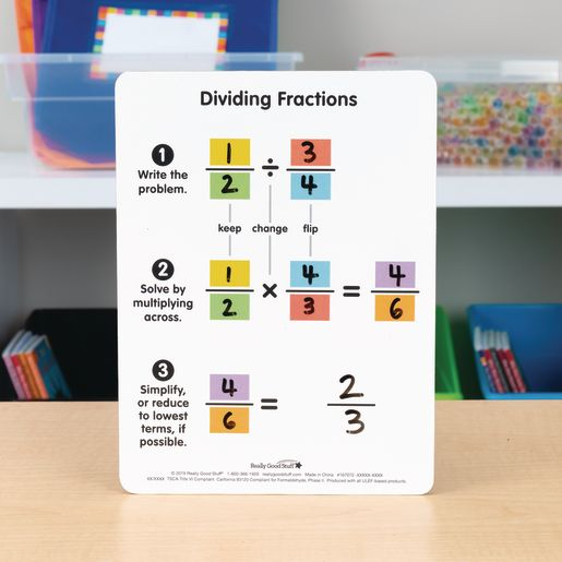 Dividing And Comparing Fractions Dry Erase Boards - 6 boards