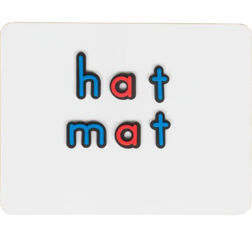 Magnetic Dry Erase Boards With Coded Plastic Letters - 6 Student Pack