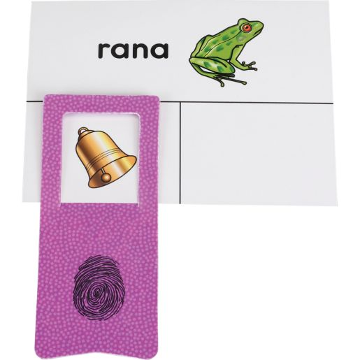 Tarjetas y Clips: Palabras que riman (Spanish Rhyming Word Cards And Clips) - 45 cards, 6 clips