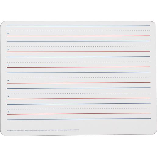 Two-Sided Primary Lined Dry Erase Boards - Non-Magnetic - 6 boards