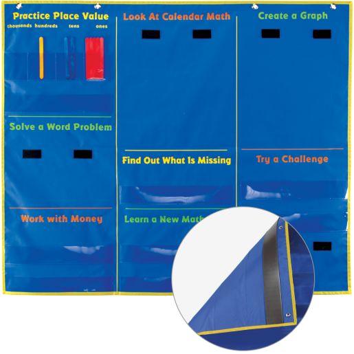 Daily Math Pocket Chart - 1 pocket chart, 154 cards