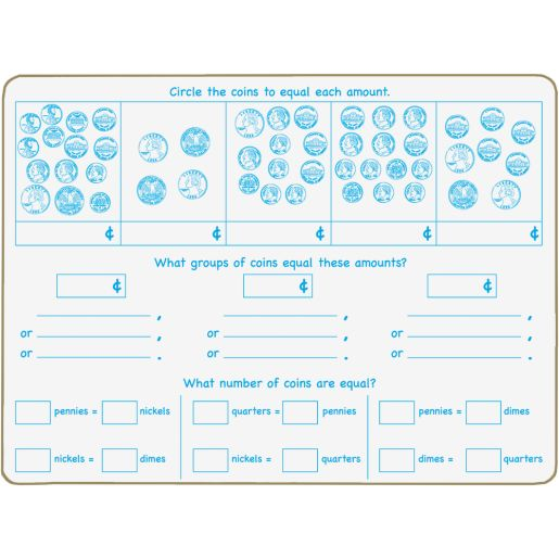 Time And Money Two-Sided Dry Erase Board Set