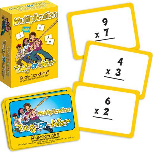 Really Good Tug-Of-War: Multiplication - 64 cards