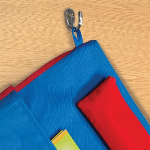 Deluxe Chair Pockets with Pencil Case - 36 Pack - Blue/Red