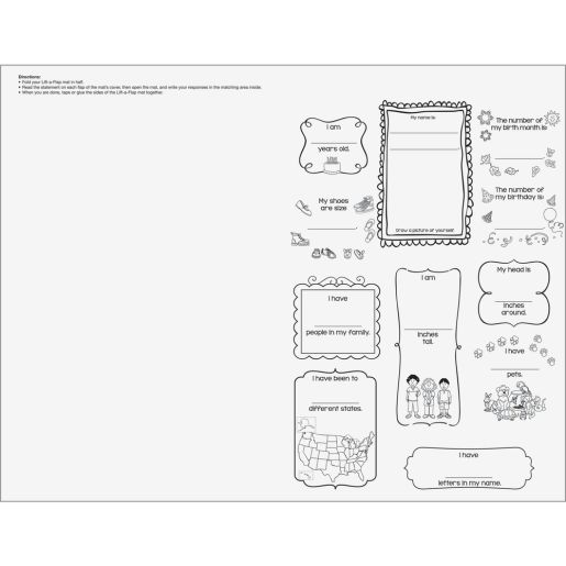 Ready-To-Decorate® Math Facts About Me Jumbo Lift-A-Flap - 24 posters