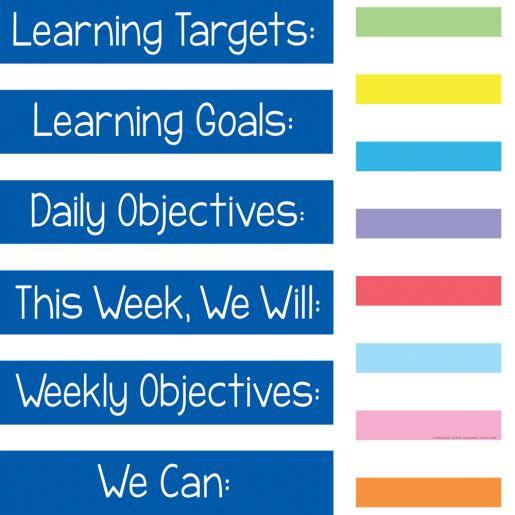 Learning Goals Pocket Chart™ - 1 pocket chart, 14 cards