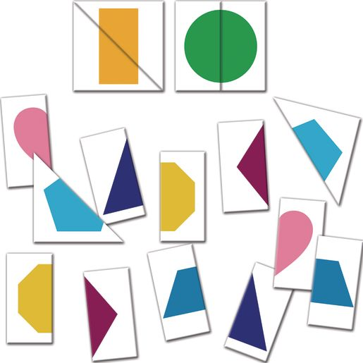 Complete-The-Shapes Match Cards - 49-piece set