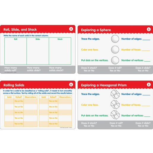 Geometric Solids Task Cards - 22 cards