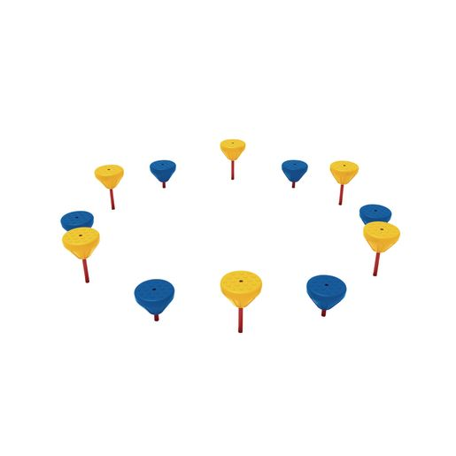 Pebble Path Set of 12- Primary Colors