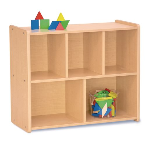 Image of 30 Compact 5-Compartment Storage, Maple Laminate