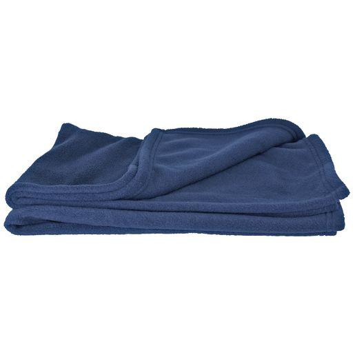 Angeles Comfy Fleece Blanket - Blue, Set of 12