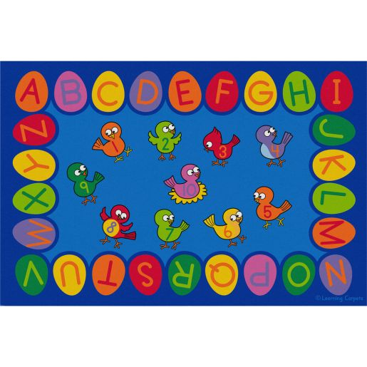 Birds, Eggs and ABC's - Rectangle Small