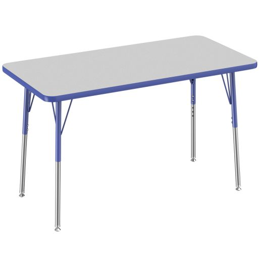 """24"""" x 48"""" Rectangle Table, Gray/Blue"""