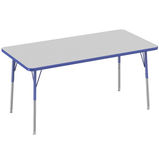 """30"""" x 60"""" Rectangle Table, Gray/Blue"""