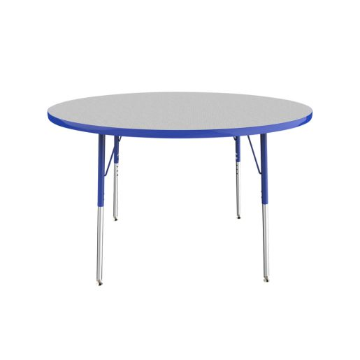 """48"""" Round Table, Gray/Blue"""