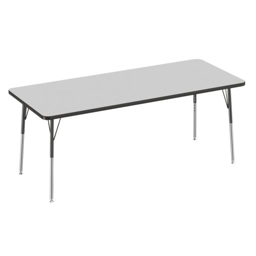 "30"" x 72"" Rectangle Table, Gray/Black"