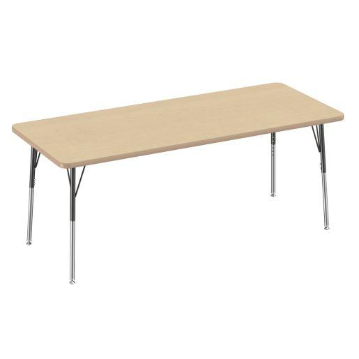 "30"" x 72"" Rectangle Table, Maple/Maple"