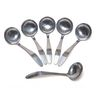 Six Stainless Steel Ladles