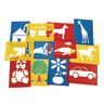 Large Washable Plastic Everyday Objects Stencils - Set of 12