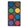 Colorations® Tropical Tempera Paint Cakes, 8 Colors in Tray