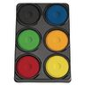 Colorations® 6 Bold Color Tempera Paint Cakes in Tray