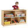 "Preschool Mobile Divided Shelf Storage - Plywood Back, 29-1/2""H"