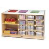 Double-Sided Mobile Cubbie Island Storage - Without Trays