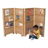 4 Section Double-Sided Mobile Library Bookcase