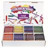 Colorations® Large Crayons - 8 Colors, Set of 400