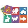"Colorations Animal Shape Stencils, 8"" - Set of 12"