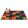 """Blocks of Fun 5'10"""" x 8'4"""" Rectangle Premium Carpet"""