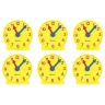 "4"" Tick Tock Student Clocks - Set of 6"