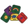 "Bilingual 12"" Squares - Set of 18 Kids Value PLUS Carpets"