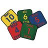 "Bilingual Numbers 12"" Squares - Set of 10 Kids Value PLUS Carpets"