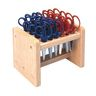 Colorations® Natural Oak Wood Rack with 24 Blunt Tip Scissors