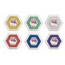 Colorations® Large Metallic Washable Stamp Pads, Set of 6