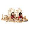 220 Rubber Wood Blocks, 21 Shapes