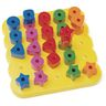 Stacking Shapes Pegboard - 25 Pieces