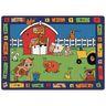 """Alphabet Farm 4'5"""" x 5'10"""" Rectangle Premium Carpet"""