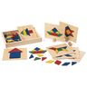 Excellerations® Wooden Pattern Blocks & Board Set - 69 Pieces