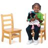 "10"" Assembled KYDZLadderback Chairs™ - Set of 2"