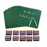 Excellerations™ 10 Mini Chalkboards & 10 Chunky Erasers