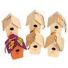 Colorations® Wooden Birdhouses - Set of 6