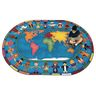 "Hands Around the World Carpet - 7'8"" x 10'9"" Oval"