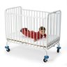L.A. Baby White Holiday Metal Folding Crib