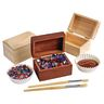 Colorations® Wooden Treasure Boxes - Set of 12