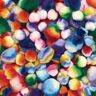 Colorations® Rainbow Striped Pom-Poms - 180 Pieces