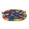 "123 ABC Butterflies 6'9"" x 9'5"" Oval KIDSoft Premium Carpet"