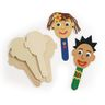 Craft Stick Faces - Set of 20