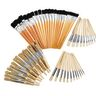 Natural Wooden Brush Kit - 72 Pieces